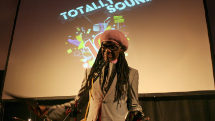 Nile Rodgers takes to the Totally Sound stage at Summerhall and wishes the project a Happy Birthday.